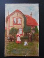 Ansichtskarte (handgemalt) aus dem Raum Hannover - 01488