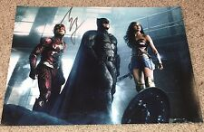 EZRA MILLER SIGNED JUSTICE LEAGUE THE FLASH 11x14 PHOTO B w/EXACT VIDEO PROOF