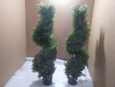 Damomo 3ft (2 Pieces) Topiary Trees Boxwood Artificial Plants Spiral Feaux