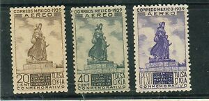z321 MEXICO Air Sc C94-C96 MNH Statue of Pioneer Woman, Ponca City 1939