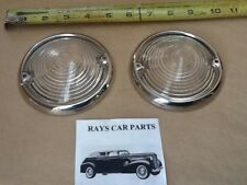 NEW SET OF REPLACEMENT 1953 53 CHEVROLET FRONT PARK LIGHT LENS AND RINGS !