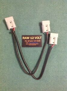 Anderson style double adapter leads For Caravans,Camping ,Solar Panels