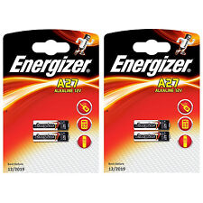 4 x Energizer A27 12V Alkaline Battery MN27 27A GP27A L828 CA22 Batteies
