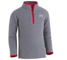 Under Armour Boys' Fleece 1/4 Zip Sweater - Grey / Red