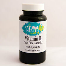 Vitamin B Complex 90 Tablets • Yeast Free • Folic Acid • Fatigue • B12 1000% NRV