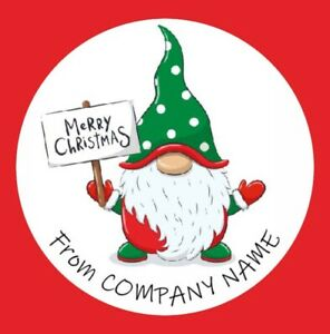 Round Personalised Merry Christmas logo, Round Stickers, Labels (08A)