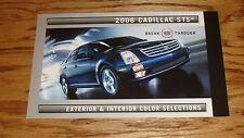 2006 Cadillac STS Exterior & Interior Color Selections Brochure 06