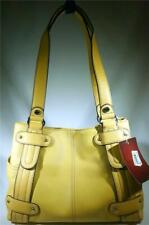 TIGNANELLO PERFECT 10 STUDDED SHOPPER LEATHER HAND BAG PALE YELLOW T98530 NWT