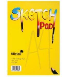 A4 Sketch Pad - 20 Sheets Silvine Children's Drawing Sketch Pad Kids UK