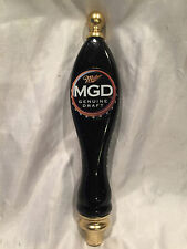 Collectible Miller Genuine Draft MGD Black & Gold Beer Screw On Tap Handle 12""