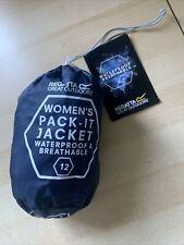 Regatta Pack It Waterproof Jacket Navy, Size 12, New