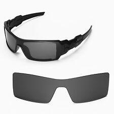New Walleva Black Lenses For Oakley Oil Rig Sunglasses