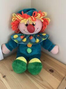 Jesty The Clown Yarn Hair Squeaky Tummy Blue Plush Commonwealth 1990 Doll B & K