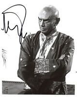 YUL BRYNNER SIGNED AUTOGRAPHED 8x10 PHOTO THE KING AND I VERY RARE PSA/DNA
