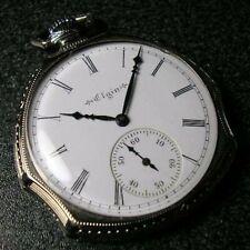 ELGIN Antique Pocket Watch Manual Winding 17Jewels 46mm 1923 Unusual Shape Case