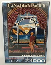 Eurographics 1000 Pc. Puzzle Canadian Pacific Rockies Beautiful Lake Louise NEW