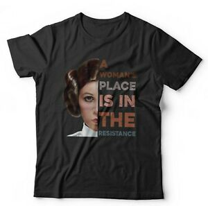 A Womans Place Is In The Resistance Tshirt Unisex - Leia, Wars, Space, Sci-Fi