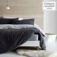 Catherine Lansfield SoSoft Reversible Cosy Fleece Duvet Cover Bedding Range Grey