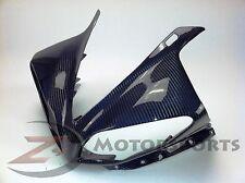 2009-2011 Yamaha R1 Upper Front Nose Headlight Fairing Cowl Carbon Fiber Blue