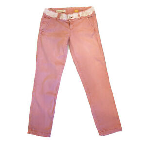 Pilcro and the Letterpress Hypen Pink Chinos Pants Size 26 P Embroidered