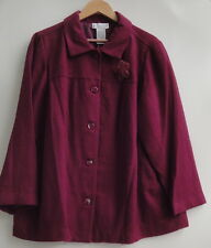 White Stag Violet Solid Women's Jacket Size-18W/20W-New-$19.99