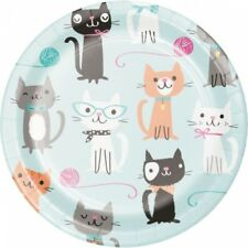 Purr-Fect Kitty Cat Party 7 Inch Paper Plates 8 Per Pack Girls Birthday Party