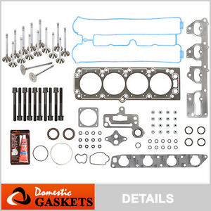 06-08 Suzuki Forenza Reno Optra 2.0L Head Gasket Bolts Set+Engine Valves A20DMS