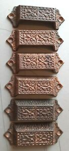 Set of 6 1890-1900 Victorian drawer pulls