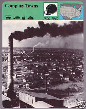 COMPANY TOWNS Alabama Factory City Photo STORY OF AMERICA CARD