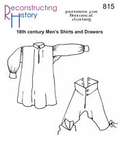 Schnittmuster RH 815: 18th Century Men's Shirts and Drawers