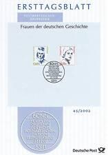 BRD 2002: Hildegard Knef y Annette von Droste-pizarro de la ETB nr 2295 + 2296!