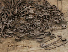 """144 ~ Primitive 1 1/8"""" Rusty Tin LOOK Safety Pins ~ Craft"""
