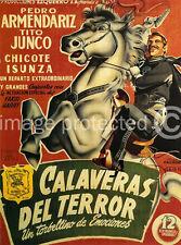 Calaveras de Terror Vintage Mexican Cinema 11x17 Poster