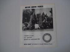 advertising Pubblicità 1970 MOTORI MORINI FRANCO e RIV