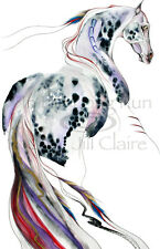 Appaloosa Horse Native Art Equine Painting Print Original Jill Claire ~ Thunder