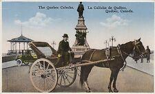 Calèche Monument Champlain QUEBEC QC Canada 1920-30s Librairie Garneau Postcard