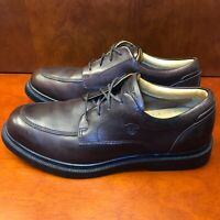 Timberland Men 8.5 M Round Apron Toe Oxfords Waterproof Leather Brown 90091