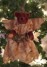 "ADORABLE VINTAGE/ANTIQUE 6"" BROWN MOHAIR JOINTED TEDDY BEAR ANGEL"