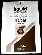 Hawid Stamp Mounts Size 165/95d BLACK Background Pack of 10