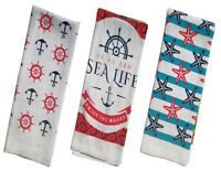NAUTICAL & BEACH SEA THEME DECORATIONS KITCHEN TOWELS (Free Shipping)