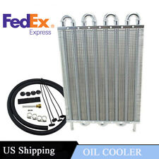 High Quality 8 Row Car Engine Transmission Oil Cooler Radiator Kit US In Stock