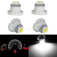4X T5/T4.7 White Neo Wedge LED Bulb 1-5050-SMD For A/C Climate Control Light 12V