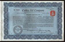 1919 New York: Caltex Oil Company (Nevada)