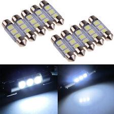 COOL 10PCS White Dome 3 SMD LED Car Interior Festoon Light Lamp Bulb 36mm 12V