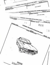 1970 TO 1974 TOYOTA CELICA COUPE RA20L RA21L BODY PART LIST CRASH SHEETS 14PMFRE