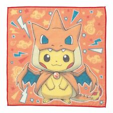 Pokemon Center Poncho Pikachu Series Mega Charizard Y Ver. Hand towel