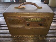 Vintage Olympic Wood Tube Radio Made in USA