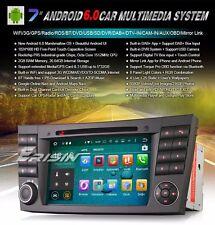 "AUTORADIO 7"" Android 6.0 MERCEDES CLASSE  CLS G E Navigatore GPS Comandi Dvd 2GB"
