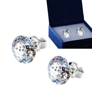 925 Sterling Silver Stud Earrings *White Patina* Xirius Crystals from Swarovski®