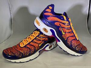 🔥NWOB Nike Air Max Plus Back to School Purple Laser Orange Size 7Y (Womens 8.5)